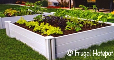 Vita White Vinyl Raised Garden Bed | Costco 972194