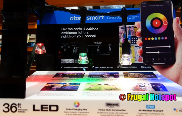 Atomi Smart WiFi Color String Lights | Costco Display