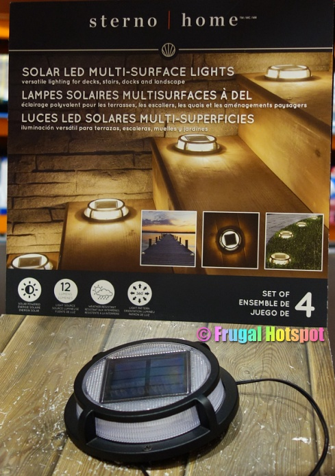 Costco Display | Sterno Home Solar LED Multi-Surface Lights