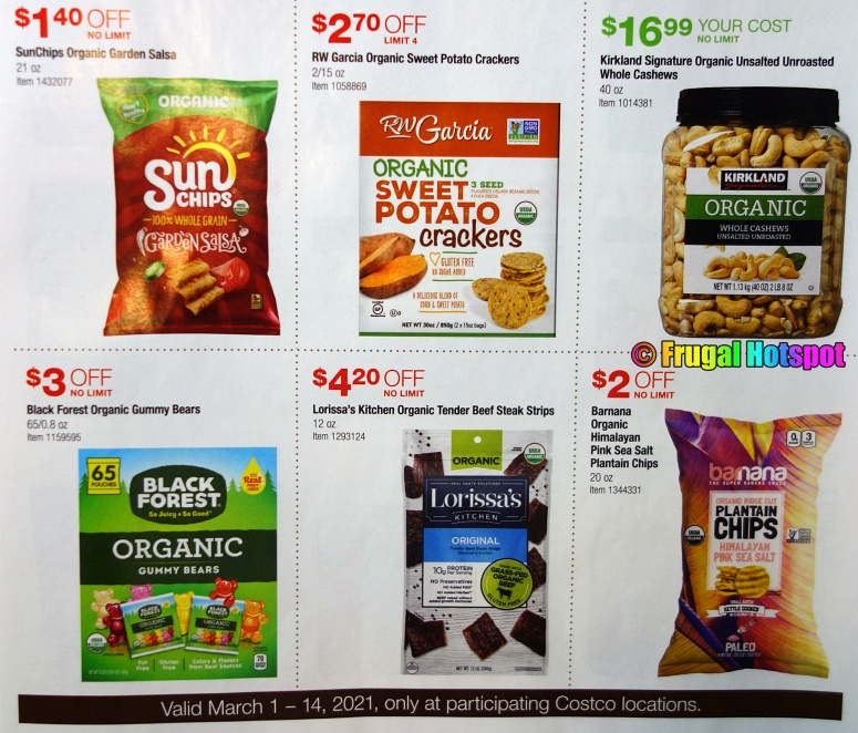 Costco Organic Coupon Book MARCH 2021 Page 1