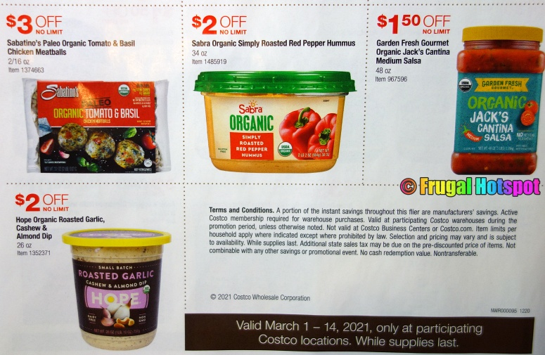 Costco Organic Coupon Book MARCH 2021 Page 4 B