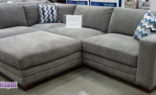Costco Penelope Fabric Sectional with Ottoman | Display