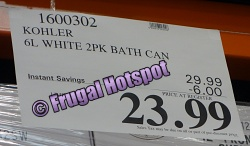 Costco Sale Price Kohler 6L Stainless Steel Trash Can