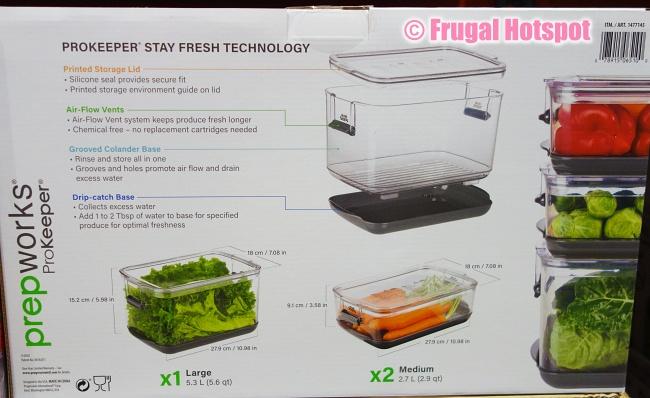 Description of Prepworks ProKeeper Fresh Produce Keeper | Costco