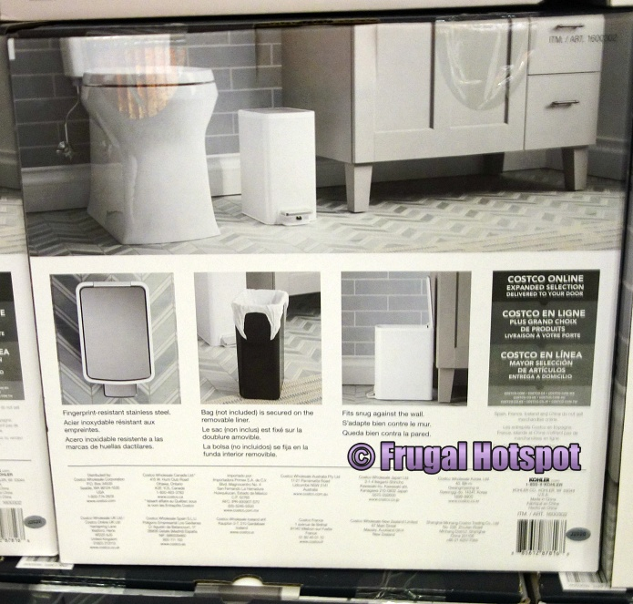 Details of Kohler 6L Stainless Steel Trash Can | Costco
