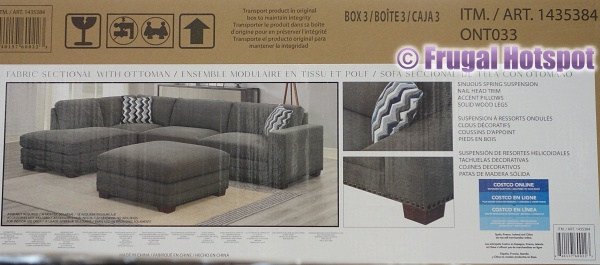 Penelope Fabric Sectional with Ottoman | Costco