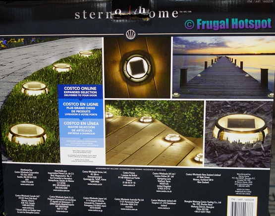 Placement options Sterno Home Solar LED Multi-Surface Lights   Costco