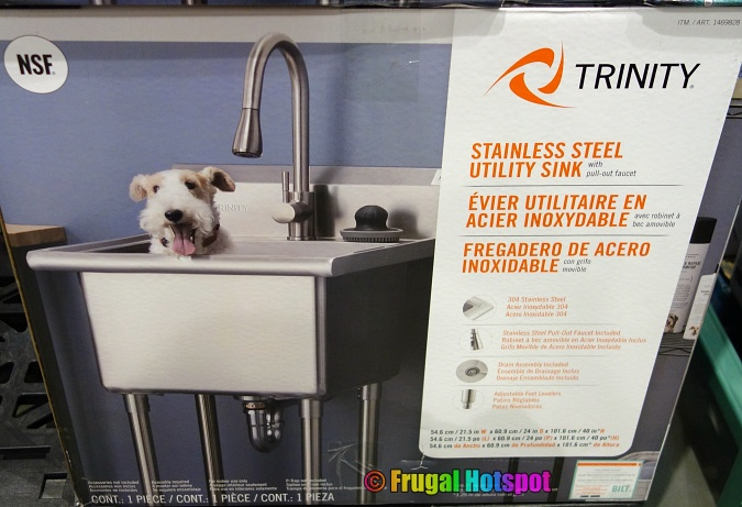 Trinity Stainless Steel Utility Sink with Pull-Out Faucet | Costco 1469828