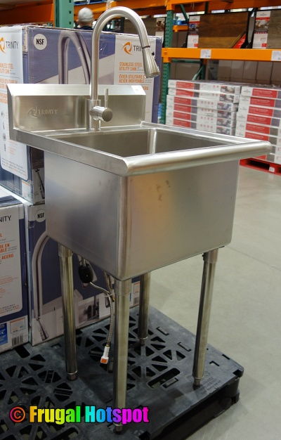 Trinity Stainless Steel Utility Sink with Pull-Out Faucet Costco Display