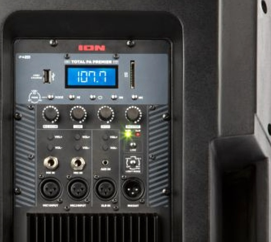 Control panel | Ion Prime Speaker PA System
