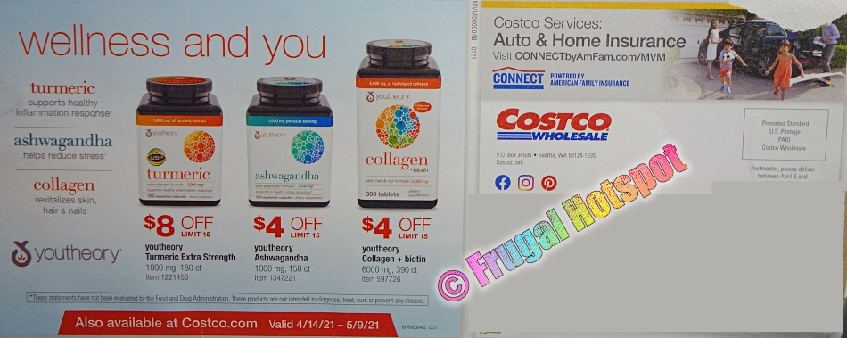 Costco APRIL 2021 Coupon Book Back Cover
