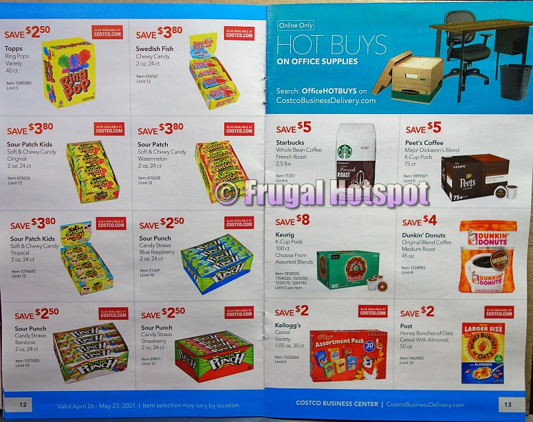 Costco Coupon Book MAY 2021 Business Center P12 P13