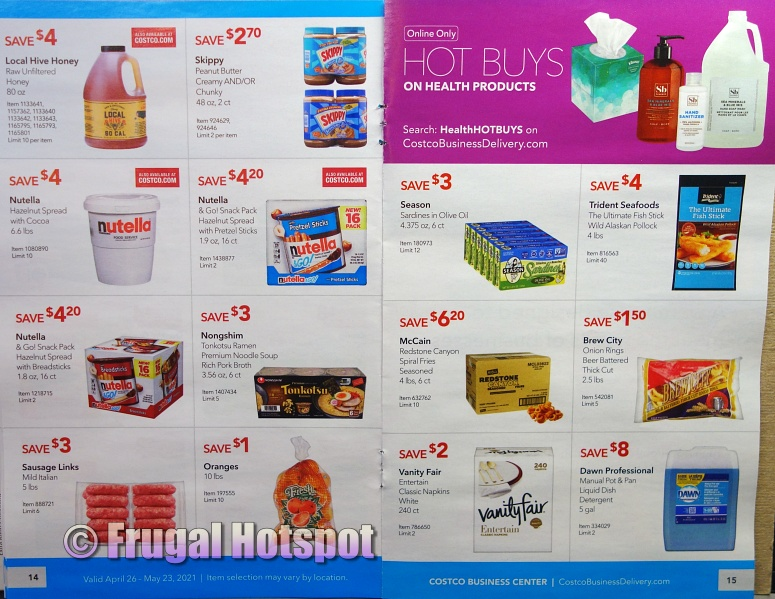 Costco Coupon Book MAY 2021 Business Center P14 P15