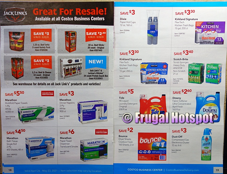 Costco Coupon Book MAY 2021 Business Center P18 P19