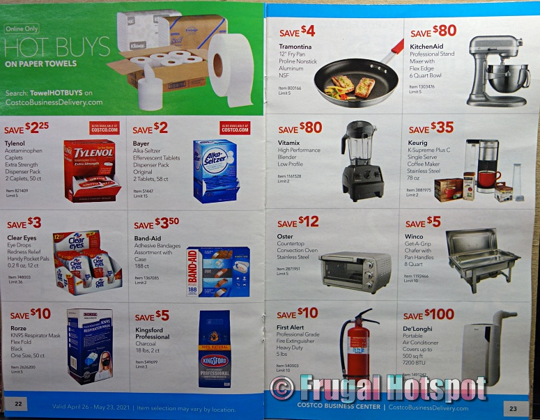 Costco Coupon Book MAY 2021 Business Center P22 P23