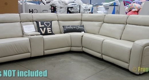 Costco Display   Gearhart Leather Power Reclining Sectional