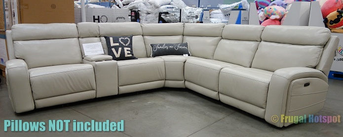 Costco Display | Gearhart Leather Power Reclining Sectional