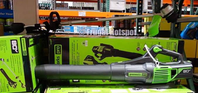 Costco Display | Greenworks Pro 80V Cordless Trimmer and Blower