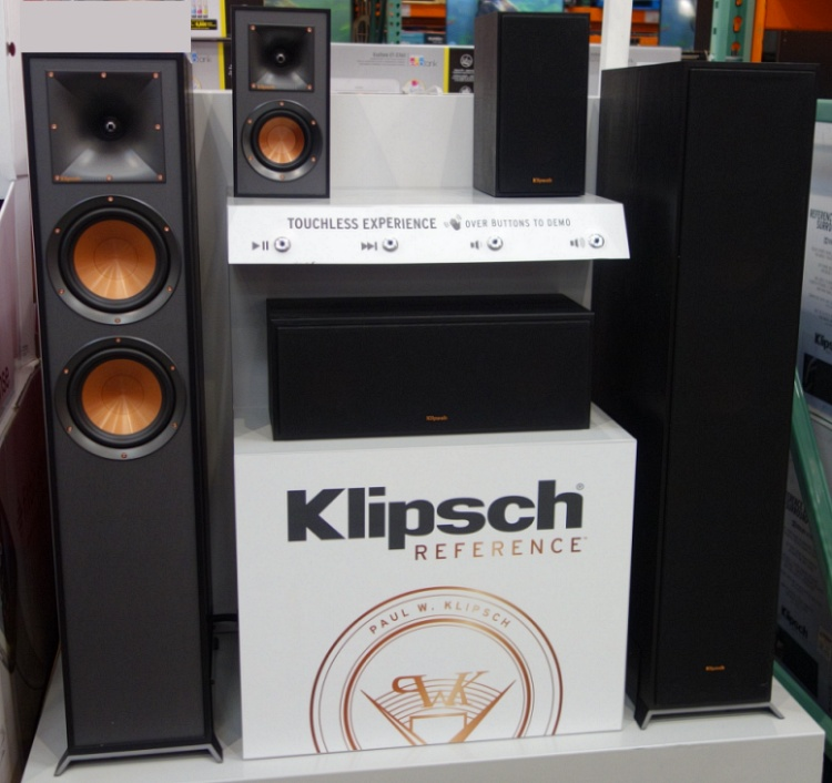 Costco Display | Klipsch Reference Dolby Atmos Surround System