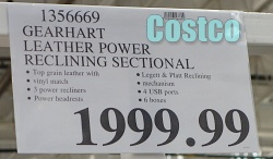 Costco Price | Gearhart Leather Power Reclining Sectional
