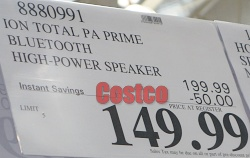 Costco Sale Price | Ion Total PA Prime Speaker System with Lights