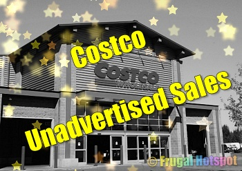 Costco Unadvertised Sales Yellow stars 350