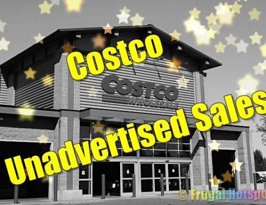 Costco Unadvertised Sales Yellow stars