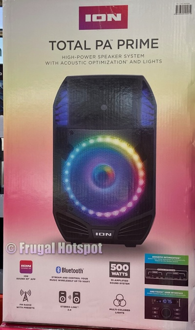 Ion Total PA Prime Speaker System with Lights | Costco