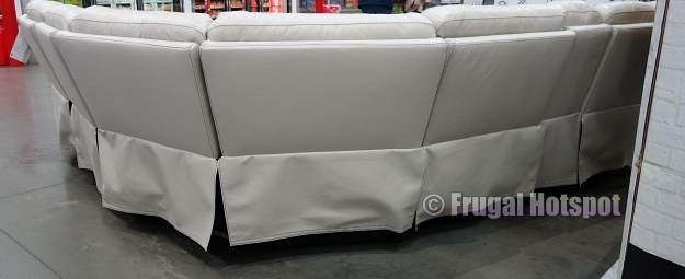 rear view | Gearhart Leather Power Reclining Sectional | Costco