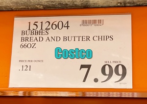 Bubbies Bread and Butter Pickles Chips | Costco Price I