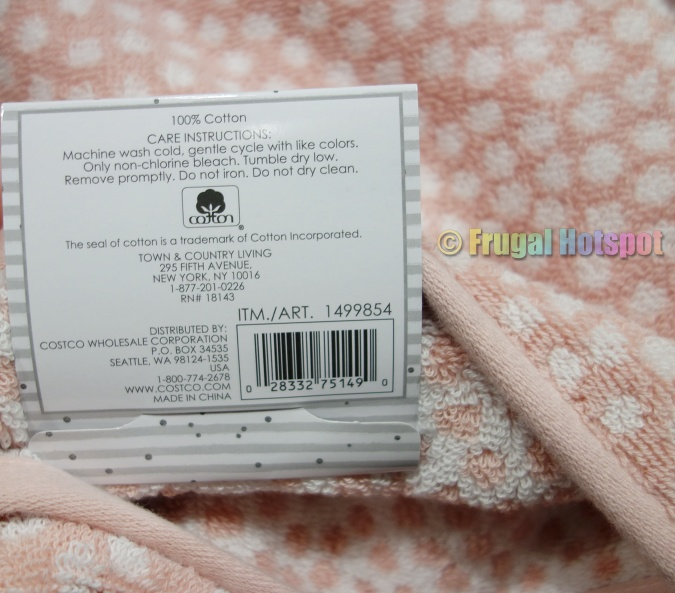 Ditsy Dot Bath Towel by Town & Country Living care instructions   Costco