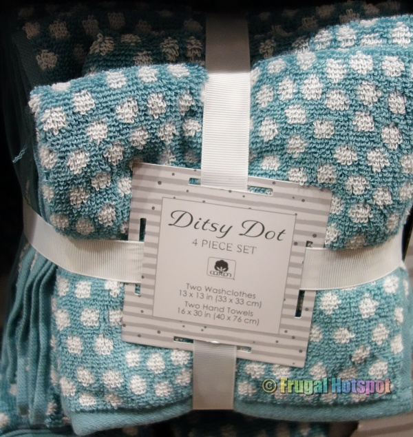 Ditsy Dot Washcloth and Hand Towel Set by Town & Country Living   Costco 2