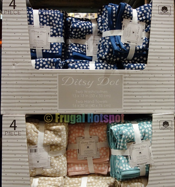 Ditsy Dot Washcloth and Hand Towel Set by Town & Country Living | Costco