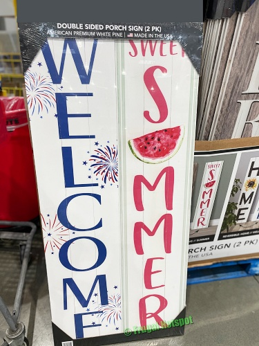 Double Sided Porch Sign Welcome Summer | Costco