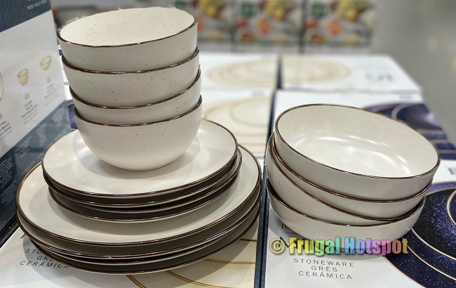 Mikasa Julianna Stoneware Dinnerware cream | Costco Display