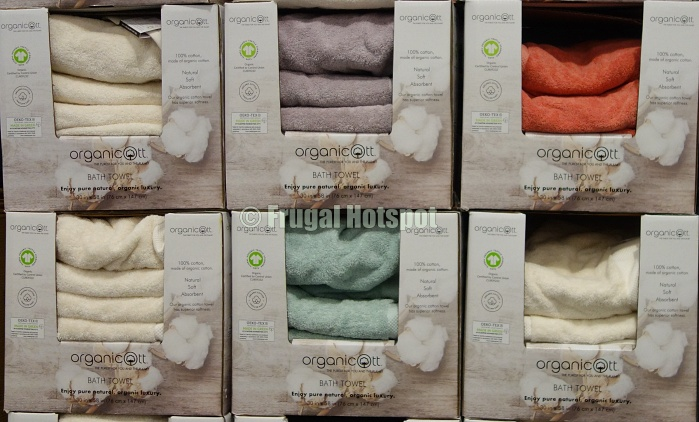 Organicott Organic Cotton Bath Towels 4 colors | Costco