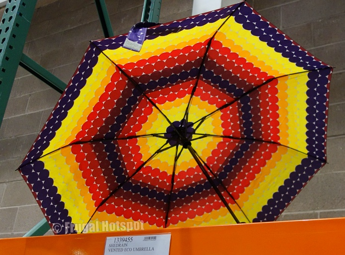 ShedRain Vented 47 Eco Umbrella colorful dots | Costco Display