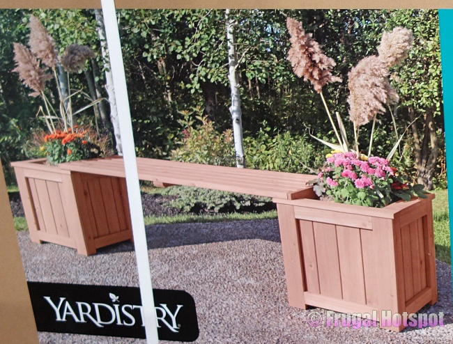Yardistry Cedar Planter Bench | Costco
