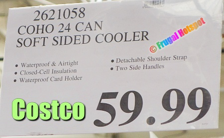 Coho 24-Can Soft Sided Cooler | Costco Price