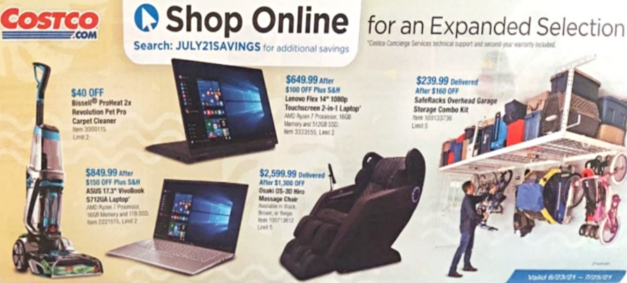 Costco JULY 2021 Coupon Book P22