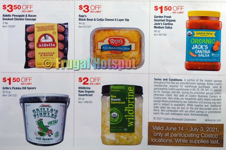Costco Style Cookout Coupon Book JUNE 2021 JULY 2021 P 4b