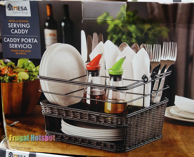 Mesa Metal and Woven Serving Caddy | Costco 2