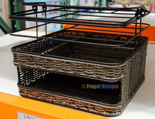 Mesa Metal and Woven Serving Caddy | Costco Display