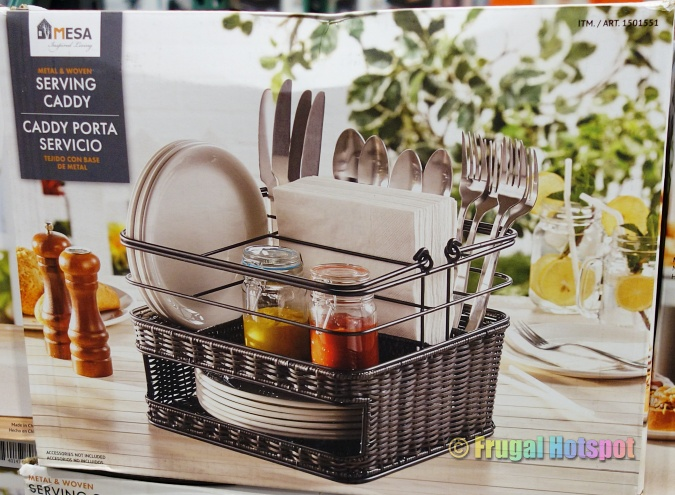 Mesa Metal and Woven Serving Caddy | Costco