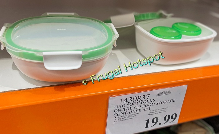 OXO SoftWorks On-the-Go Food Storage Container Set   Costco display and price