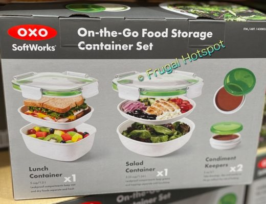 OXO SoftWorks On-the-Go Food Storage Container Set description | Costco