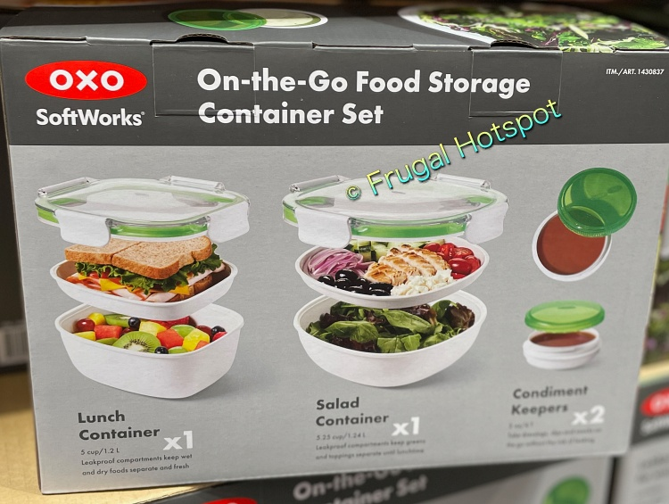 OXO SoftWorks On-the-Go Food Storage Container Set description   Costco