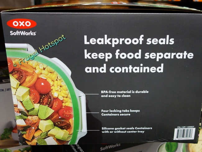 OXO SoftWorks On-the-Go Food Storage Container Set details   Costco