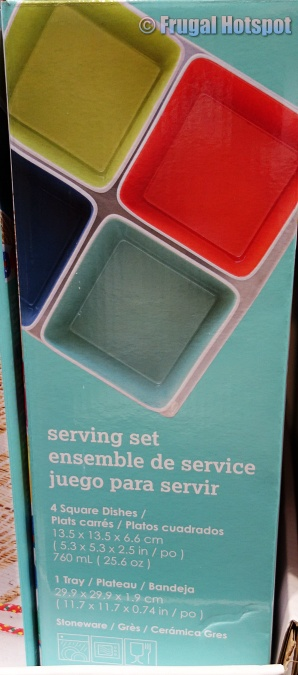 Over and Back Summertime Serving Set dimensions | Costco