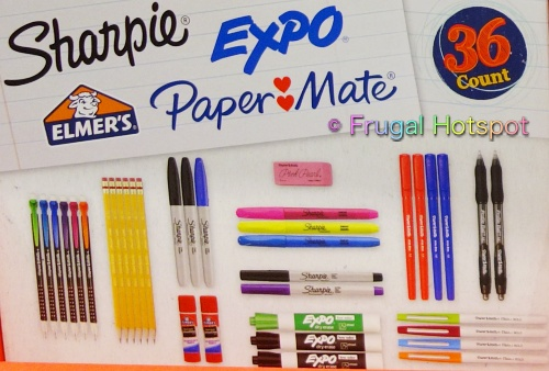 All-in-One Back-to-School Set Sharpie Expo Elmers PaperMate | Costco